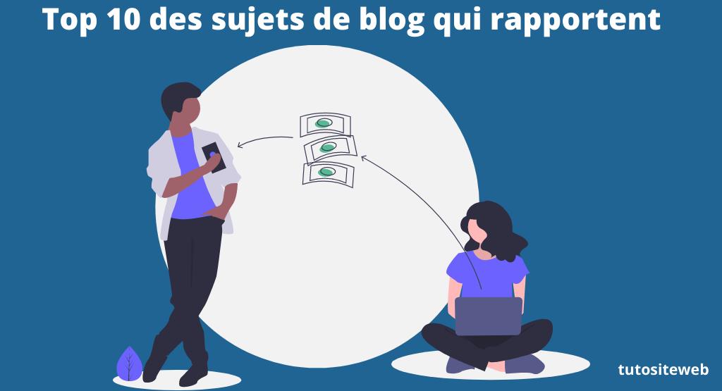 sujet de blog