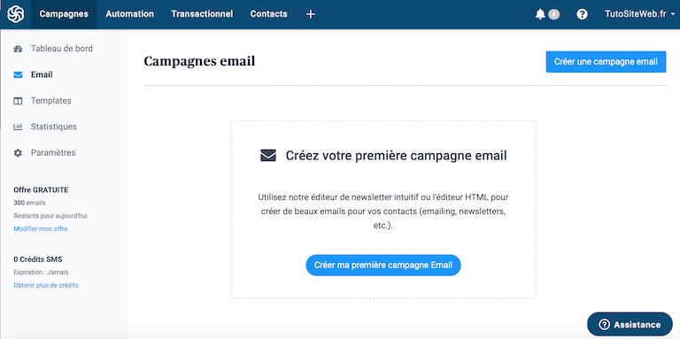campagne emails sendinblue