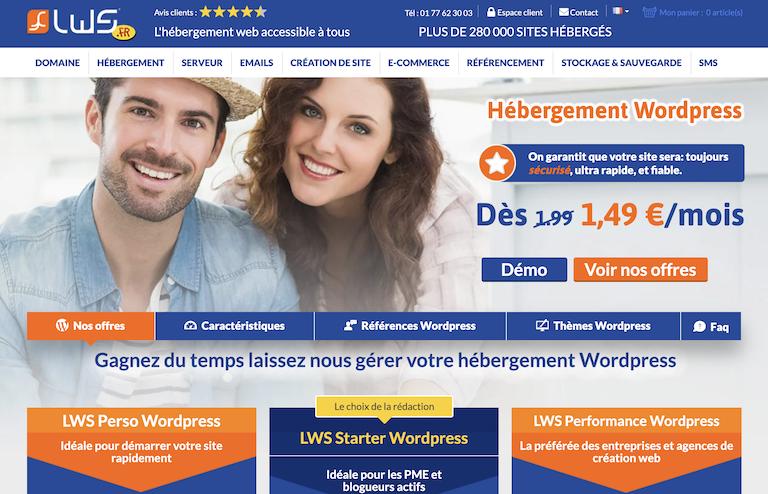 hébergeur WordPress