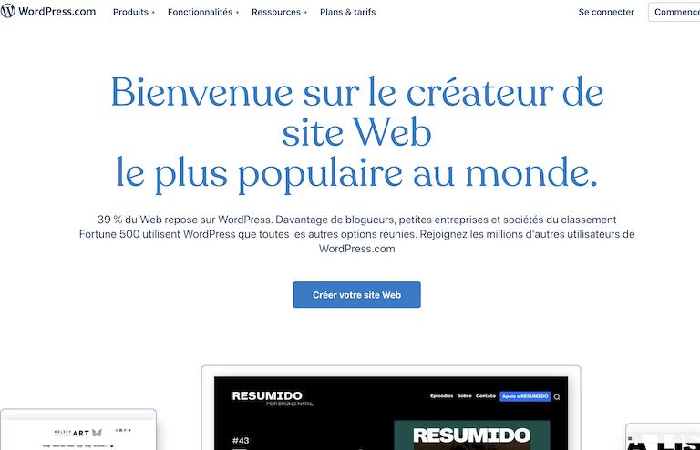 hébergeur WordPress wordpress.com