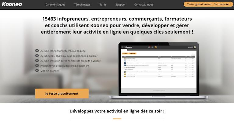 kooneo plateforme cours en ligne