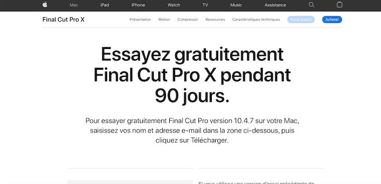 Meilleur logiciel montage vidéo pour Mac