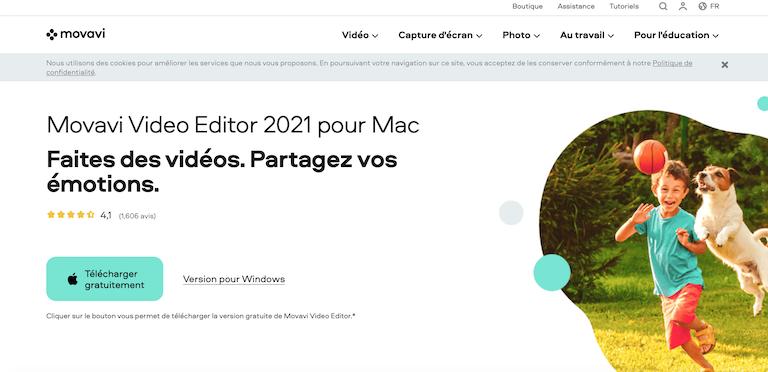 Logiciel montage vidéo facile pour Mac