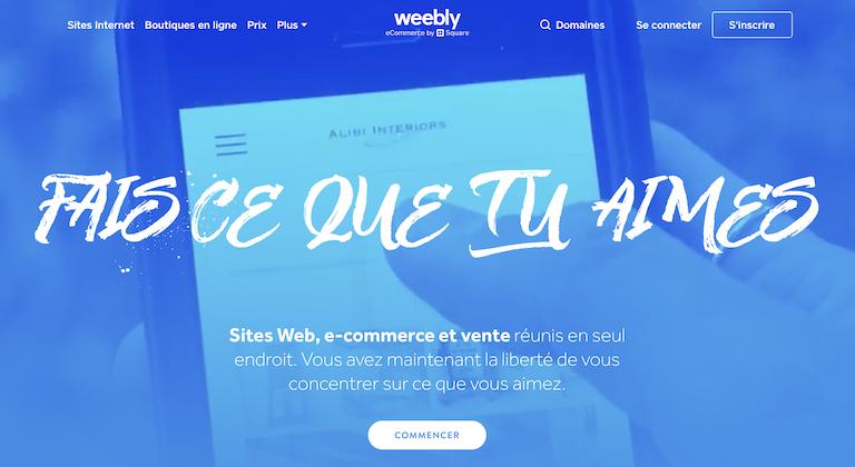 weebly plateforme de blog