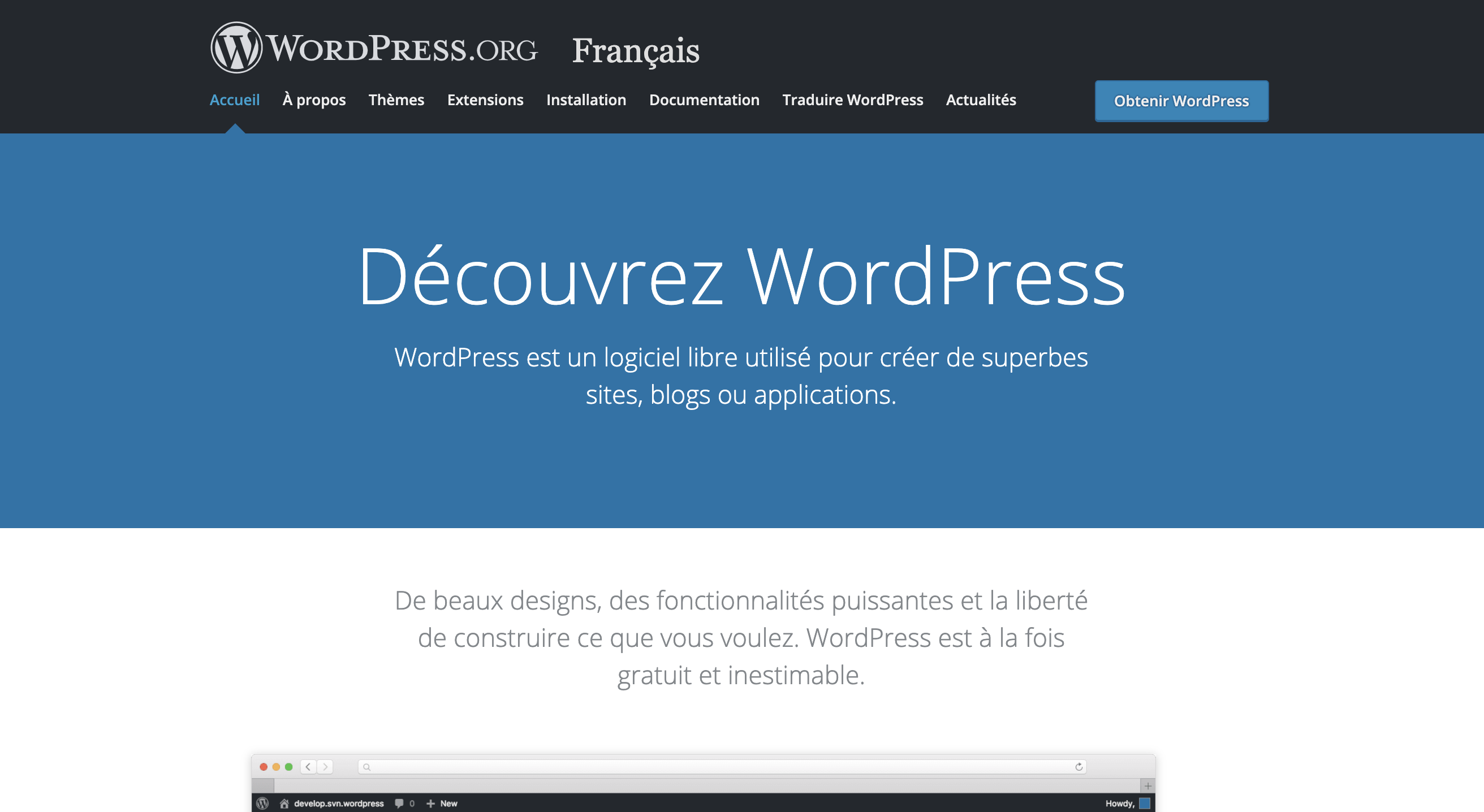 wordpress plateforme de blog