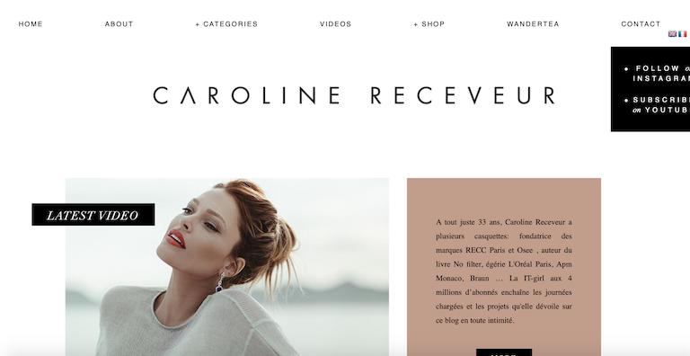 top blogs féminins caroline receveur