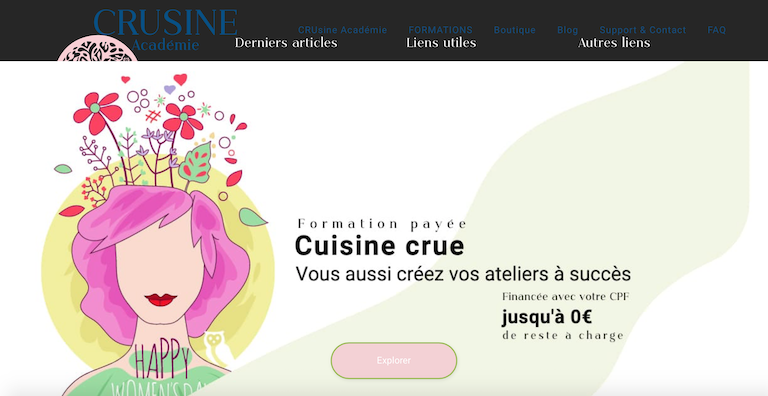 top blogs féminins crusine académie