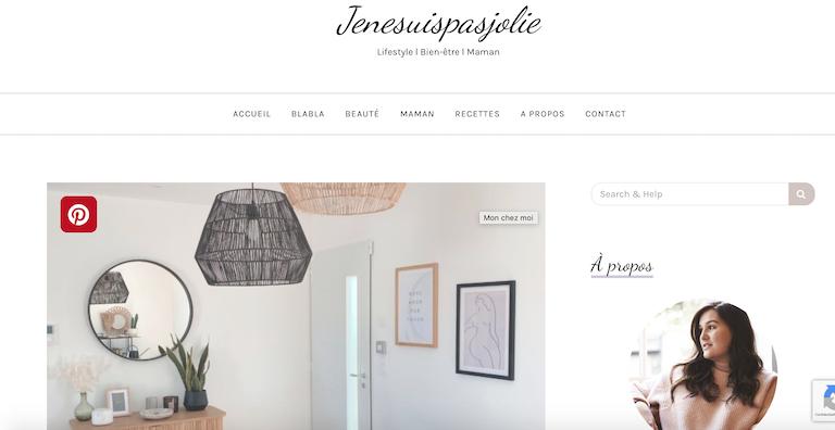 top blogs féminins jenesuispasjolie
