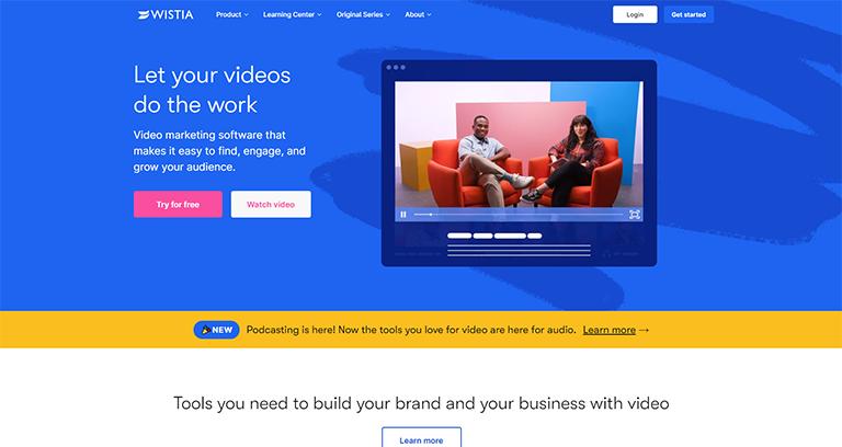 wistia hébergeur publicité vidéo