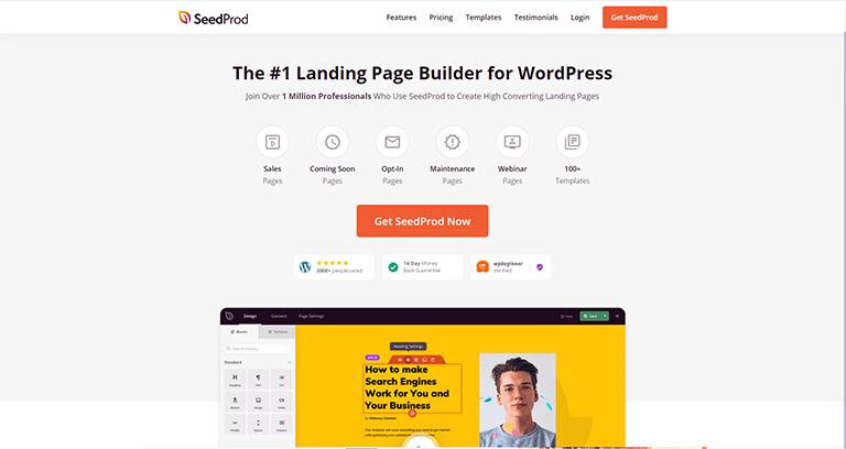 SeedProd – Outil WordPress de création de landing page