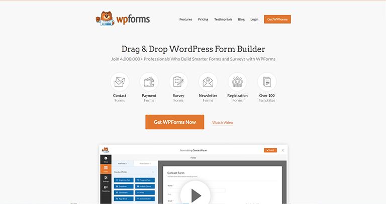 WPForms – Extension WordPress formulaire de contact