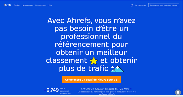 ahref - logiciel seo