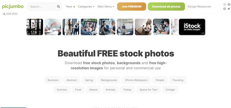 picjumbo images gratuites