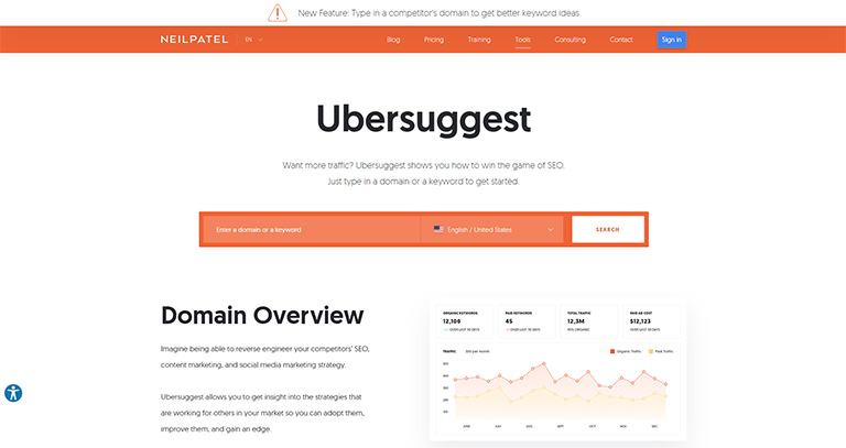 ubersuggest - referencement seo