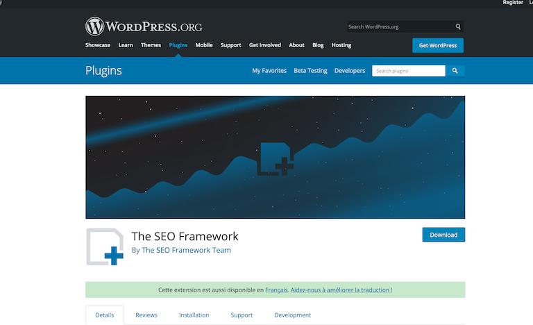 The SEO Framework extensions wordpress seo
